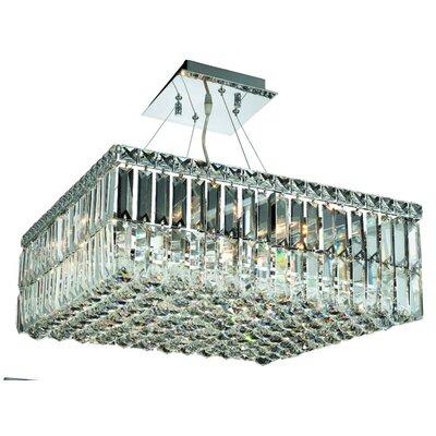 Bratton 12-Light 60W Semi Flush Mount Size / Crystal Grade: 20 / Royal Cut