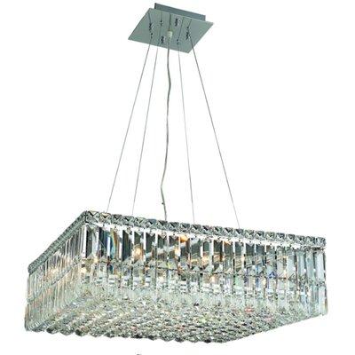 Bratton 12-Light 60W Semi Flush Mount Size / Crystal Grade: 24 / Royal Cut