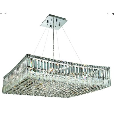 Bratton 12-Light 60W Semi Flush Mount Size / Crystal Grade: 28 / Royal Cut