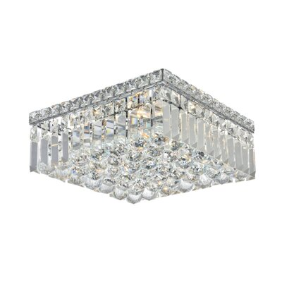 Bratton 4-Light 12 Flush Mount Crystal Grade: Strass Swarovski