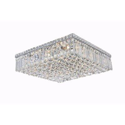 Bratton 12-Light 20 Flush Mount Crystal Grade: Royal Cut