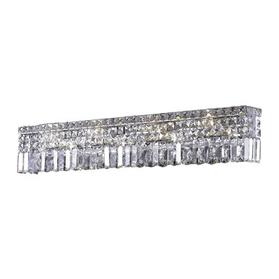 Bratton 6-Light Glass Wall Sconce Crystal Grade: Spectra Swarovski, Crystal Color: Crystal Clear