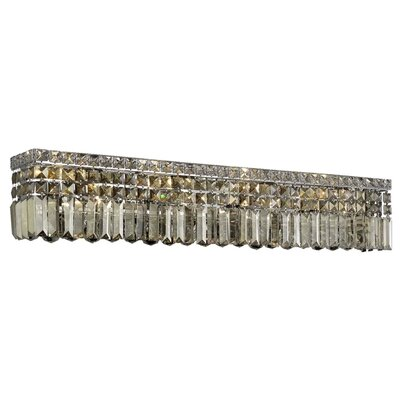 Bratton 6-Light Glass Wall Sconce Crystal Grade: Strass Swarovski, Crystal Color: Golden Teak Smoky