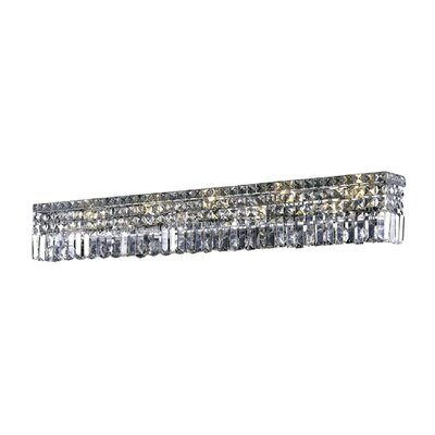 Bratton 10-Light Wall Sconce Crystal Grade: Strass Swarovski, Crystal Color: Crystal Clear