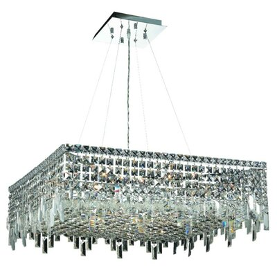 Bratton 12-Light Crystal Chandelier Size / Crystal Trim: 28 / Strass Swarovski