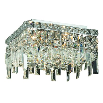 Bratton 5-Light Semi Flush Mount Crystal Grade: Elegant Cut
