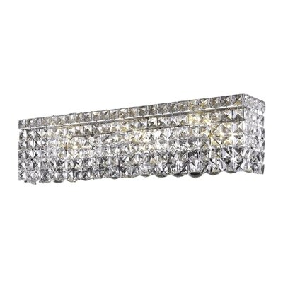 Bratton 6-Light Chrome Wall Sconce Crystal Grade: Spectra Swarovski, Crystal Color: Crystal Clear