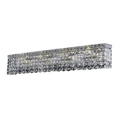 Bratton 8-Light Chrome Wall Sconce Crystal Grade: Spectra Swarovski, Crystal Color: Crystal Clear