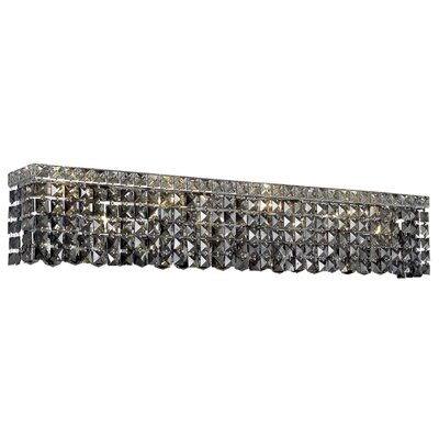 Bratton 8-Light Chrome Wall Sconce Crystal Grade: Strass Swarovski, Crystal Color: Silver Shade Grey