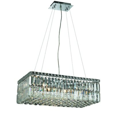 Bratton Contemporary 6-Light Kitchen Island Pendant Crystal: Elegant Cut