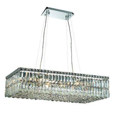 Bratton 16-Light Crystal Kitchen Island Pendant Size / Crystal Trim: 32 / Spectra Swarovski