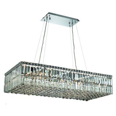 Bratton 16-Light Crystal Kitchen Island Pendant Size / Crystal Trim: 36 / Royal Cut