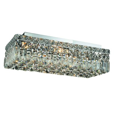 Bratton 4-Light Flush Mount Size / Crystal Grade: 20 / Elegant Cut
