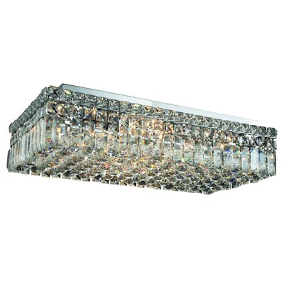 Bratton 6-Light 24 Flush Mount Crystal Grade: Royal Cut