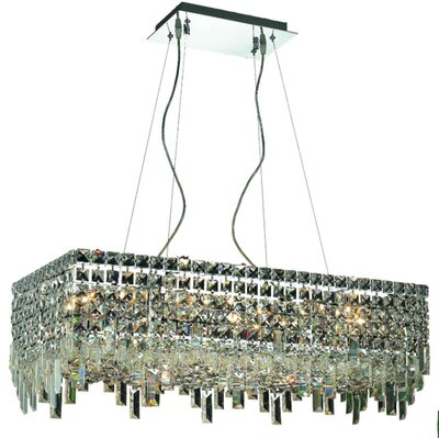 Bratton 16-Light Kitchen Island Pendant Size / Crystal Trim: 28 / Royal Cut