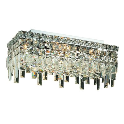 Bratton 4-Light Semi Flush Mount Crystal Grade: 16 / Spectra Swarovski