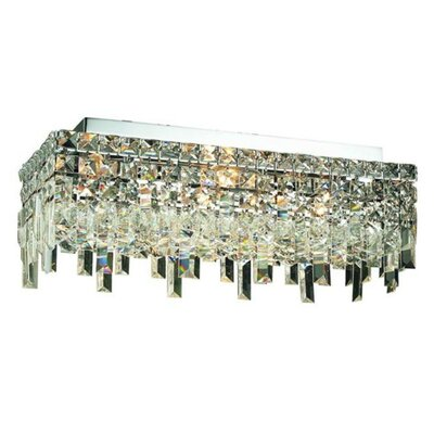 Bratton 4-Light Semi Flush Mount Crystal Grade: 20 / Elegant Cut