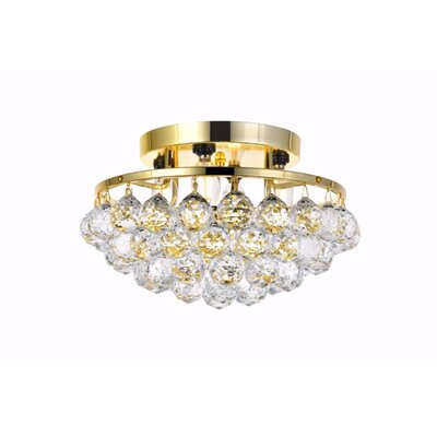 Felicia 4-Light Flush Mount Finish: Gold