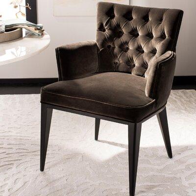 Martinez Velvet Armchair Upholstery: Giotto Shale