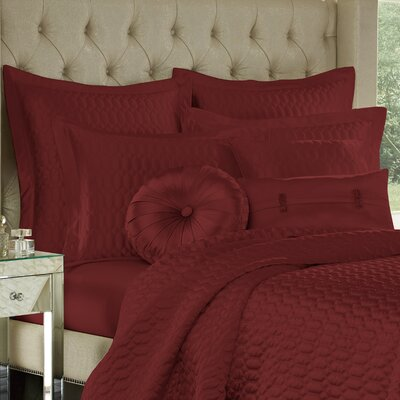 Onna Lumbar Pillow Color: Cabernet