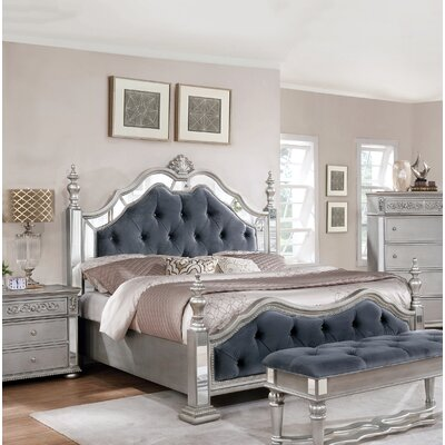 Nicolasa Upholstered Panel Bed Size: California King