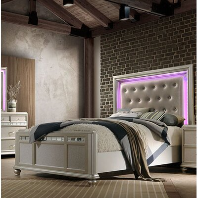 Drage Light Panel Bed Size: King