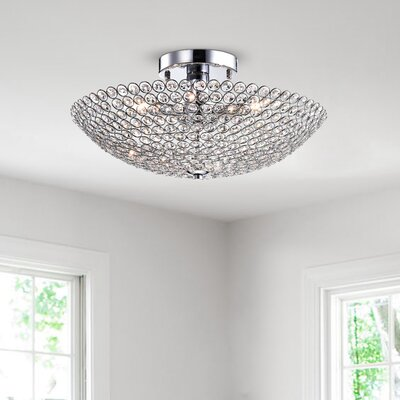 Brushwood 3-Light Semi Flush Mount
