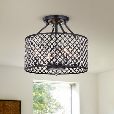Leyton 4-Light Semi Flush Mount