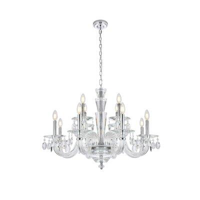 Felisa 12-Light Glass Candle-Style Chandelier