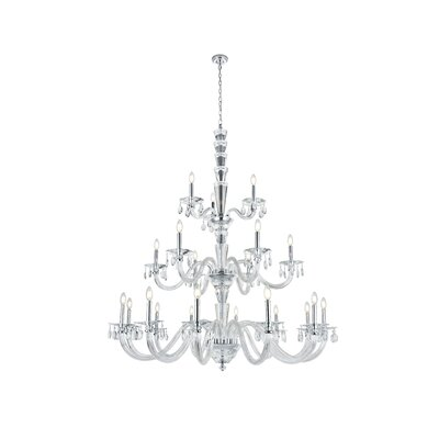 Felisa 21-Light Chain Candle-Style Chandelier