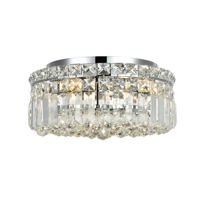 Bratton 240W 4-Light Flush Mount Size / Crystal Grade: 12 / Elegant Cut