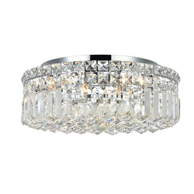 Bratton 5-Light 16 Flush Mount Crystal Grade: Strass Swarovski