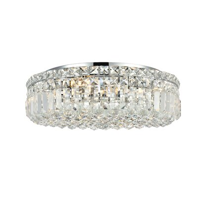 Bratton 6-Light 20 Flush Mount Crystal Grade: Spectra Swarovski