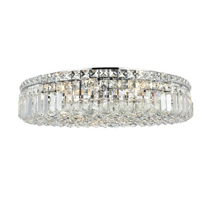 Bratton 9-Light 24 Flush Mount Crystal Grade: Spectra Swarovski