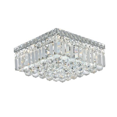 Bratton 5-Light 14 Flush Mount Crystal Grade: Elegant Cut