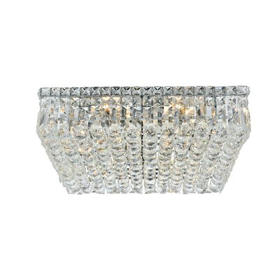 Bratton 12-Light 20 Flush Mount Crystal Grade: Elegant Cut