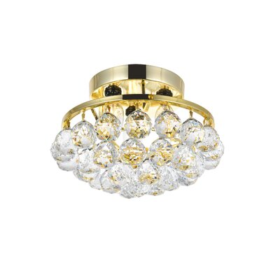 Felicia 3-Light Flush Mount Finish: Gold
