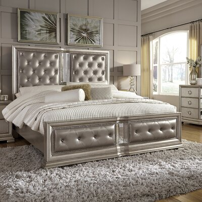 Rayleigh King Upholstered Panel Bed