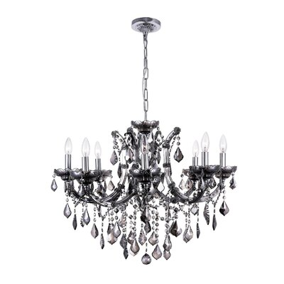 Richards 8-Light Candle-Style Chandelier Crystal Color: Smoke, Size: 142 H x 28 W x 28 D