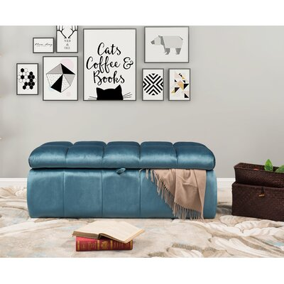 Bradman Storage Ottoman Upholstery: Blue