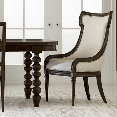Delahunt Upholstered Dining Chair Finish: Coffee