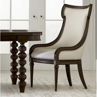 Delahunt Upholstered Side Chair Finish: Coffee