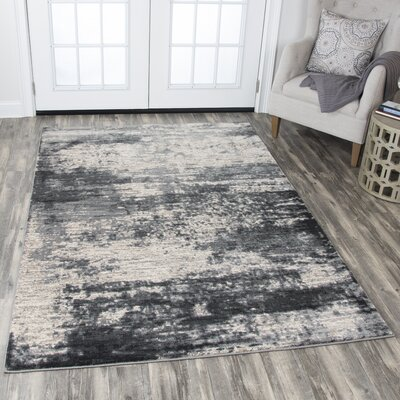 Jeffrey Black Area Rug Rug Size: 53 x 76
