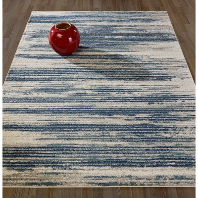 Orlie Navy/Beige Area Rug Rug Size: Rectangle 5 x 7
