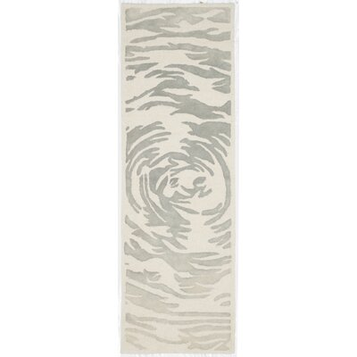 Adan Hand-Tufted Ivory/Grey Area Rug Rug Size: Runner 23 x 7