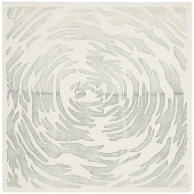 Adan Hand-Tufted Ivory/Grey Area Rug Rug Size: Square 5