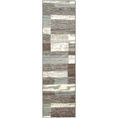 Audrey Light Blue/Gray Area Rug Rug Size: Runner 27 x 8