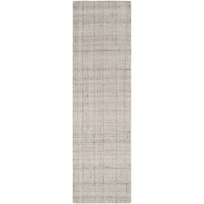 Brendan Hand-Tufted Light Gray Area Rug Rug Size: Runner 23 x 8
