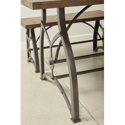 Amalda Wood and Metal Dining Table