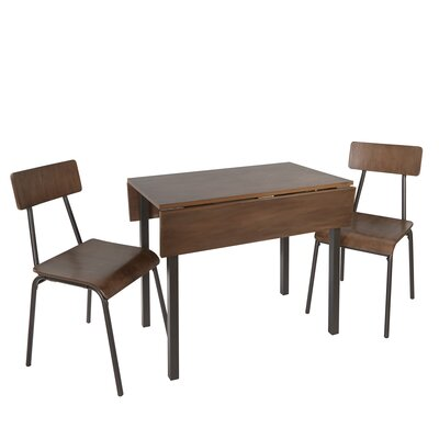 Ginnia Industrial 3 Piece Dining Set